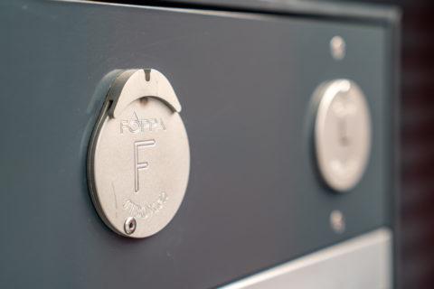 Eingebaute Sibox Schlüsselbox der Foppa AG