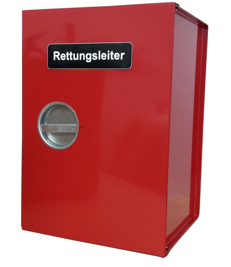 Box zur Aufbewahrung der Rettungsleiter mit Abstandshalter