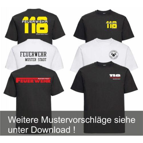 """Feuerwehr T-Shirt 215 gr / m2 """"PREMIUM"""""""