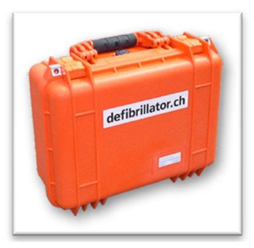 Transportkoffer Peli Case zu Defibrillator ZOLL AED Plus CPR
