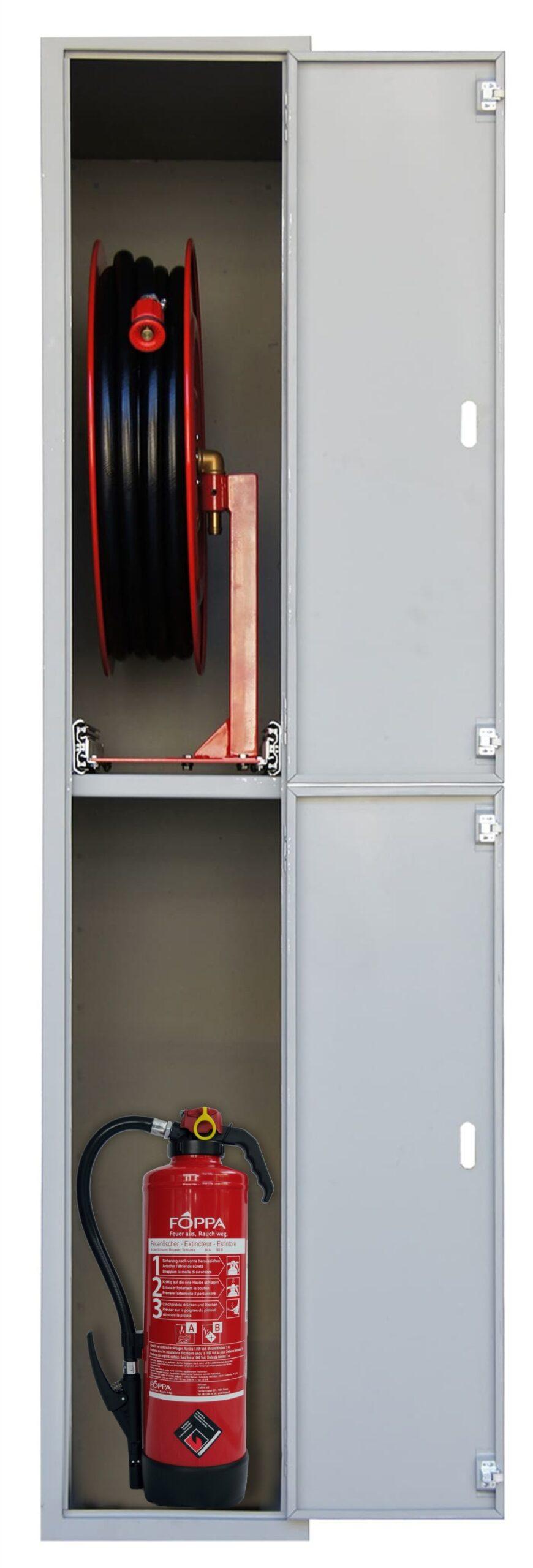Wasserlöschposten VARIO-PLUS als Auszughaspel mit 40 m Schlauch – AP