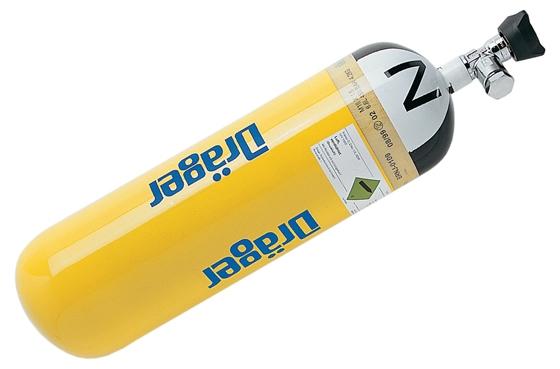 Atemluftflasche Stahl 6L/300 bar, mit EFV