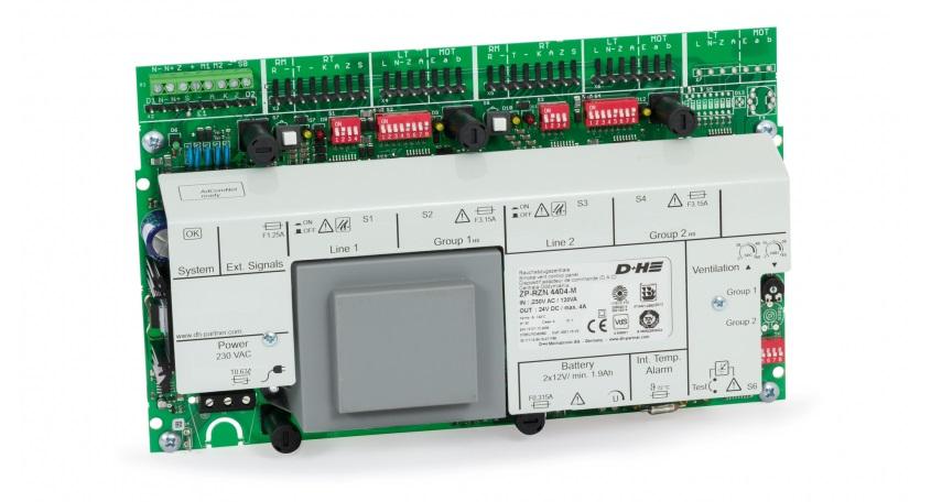 Zentralplatine RZN 4404-M, 4A, 2 Linien, 2 Gruppen AdComNet