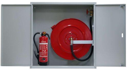 Feuerlöschposten VARIO-PLUS klein und schmal mit 40 m Schlauch - UP, Wasserlöschposten