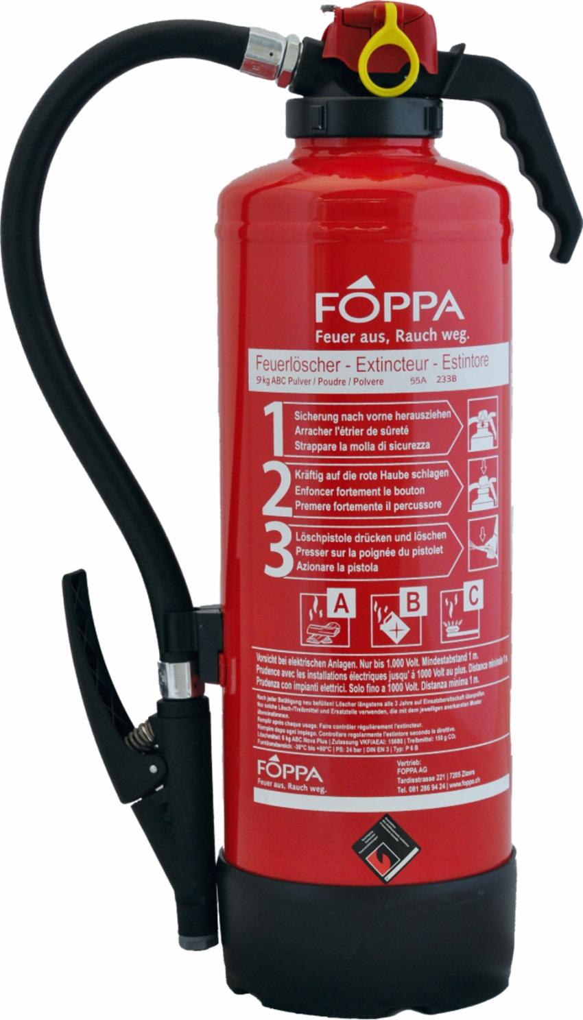 Pulverlöscher FOPPA P9A