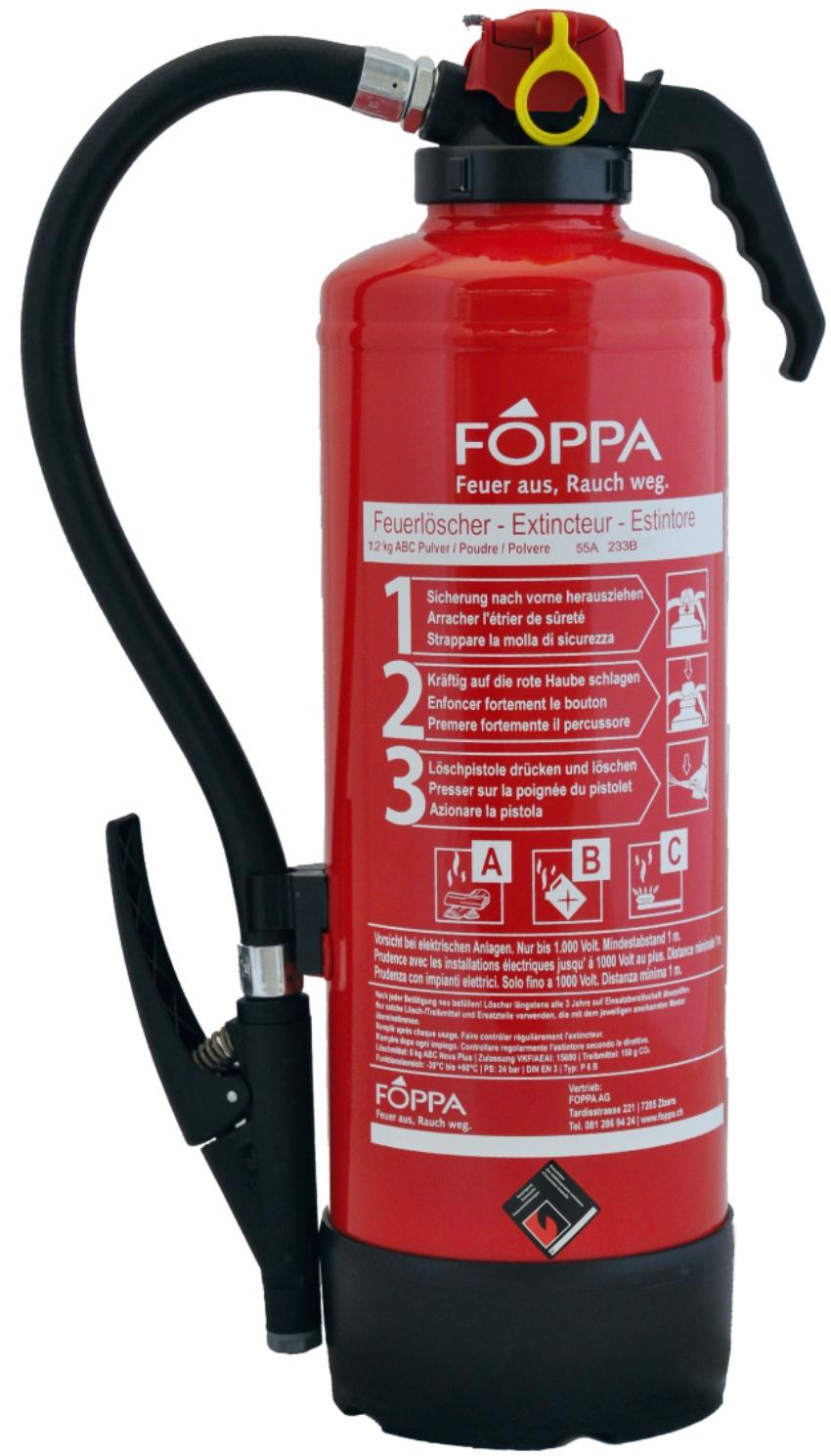 Pulverlöscher FOPPA P12A