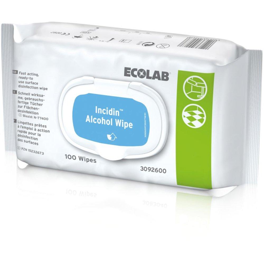 Reinigungs- und Desinfektionstücher INCIDIN® ALCOHOL WIPES – Pack á 100 Tücher