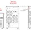 "USV Online Doppelwandler ""VFI"" 2200VA/1980W - USV-DW-2200+BB1-12/7"