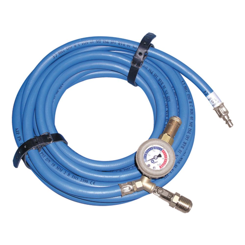 Füll- und Sicherheitsschlauch 1.5 bar / blau / 10 m – Vetter