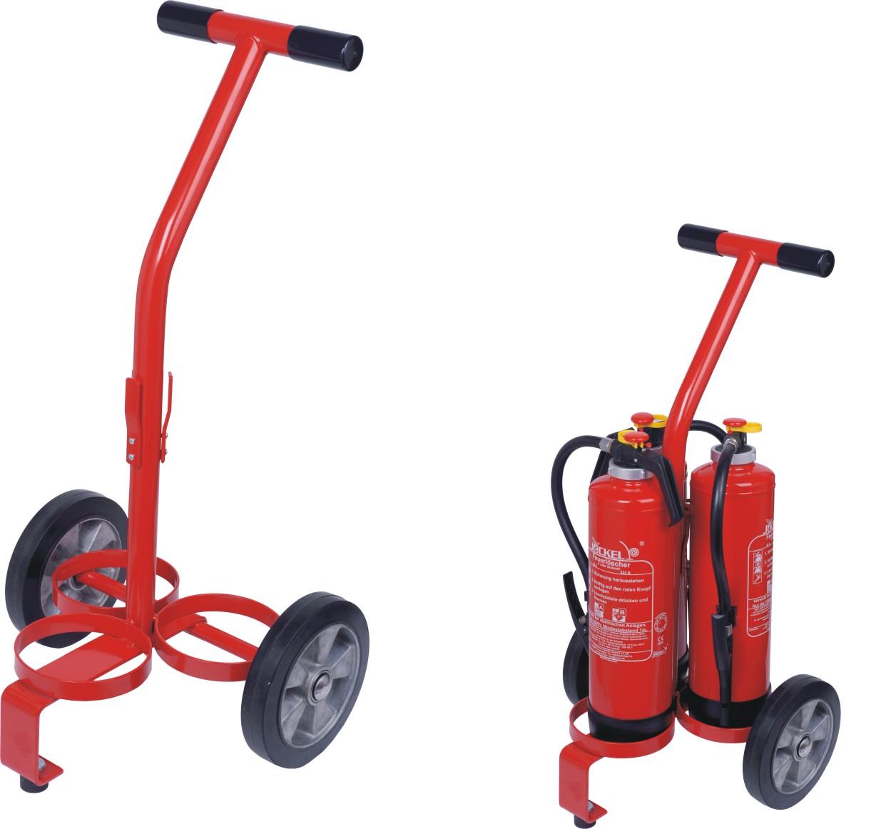 Transportwagen für 3 Löscher 9 l/kg