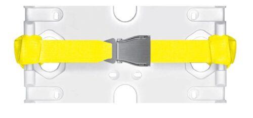 Befestigungsgurt mit Aluminiumschnalle zu SPENCER® Korbtrage