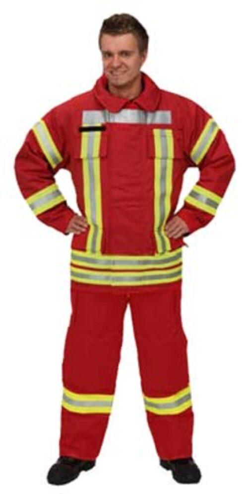 Brandschutzjacke BASIC, Nomex Comfort, rot, Kurzversion