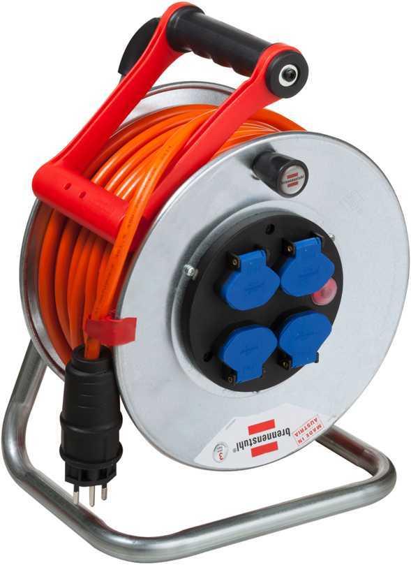 Kabelrolle Garant 50 m / 1.5 mm2 aus Stahl mit 4 x T13/230 V