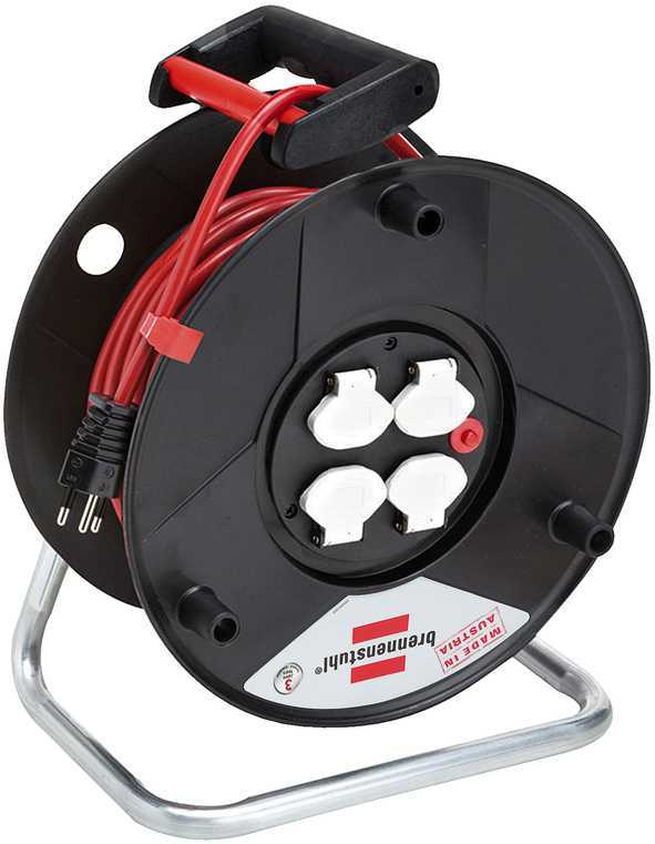 Kabelrolle Garant 50 m aus PVC mit 4 x T13/230 V