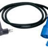 Kabel 3-polig,1.5 m mit Stecker 10A und Kupplung 16A CEE