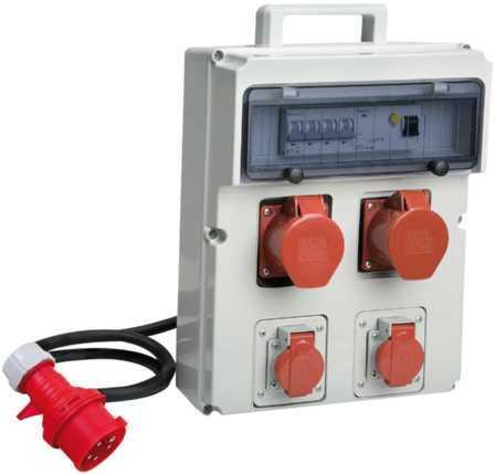 Stromverteiler tragbar mit LS, CEE 400 V + 230 V