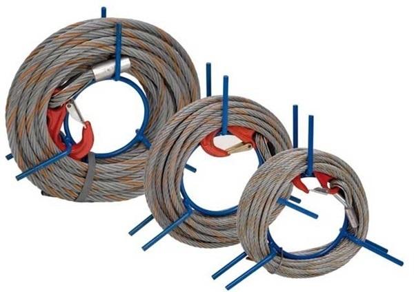 Drahtseil 16.2 mm mit Lasthaken auf Handhaspel – 30 m