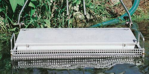 Combi-Skimmer mit steuerbarer Horizontallage