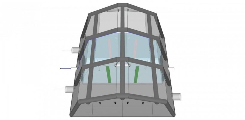 Aufblasbares Dekon-Schnelleinsatzzelt mit 2 Linien 5 x 5 m