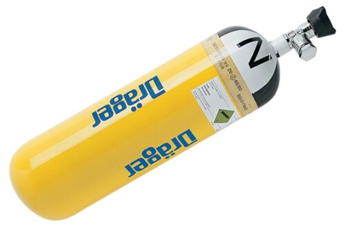 Atemluftflasche Stahl 6L/300 bar, mit EFV - LS6/300 EFV D