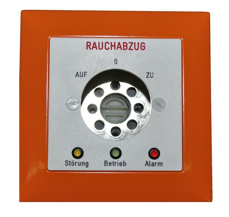 Rauchabzugs-Schlüsseltaster EDIZIO / orange  / Deutsch